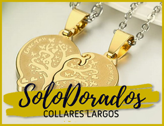 collares largos dorados