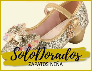 zapato dorado niña