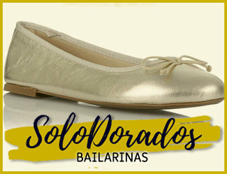 comprar bailarinas doradas
