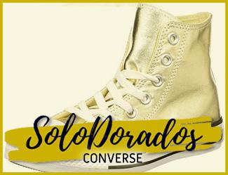 converse doradas