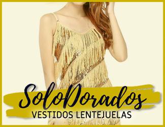 vestidos lentejuelas dorados