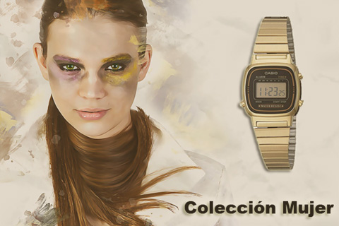 reloj dorado mujer