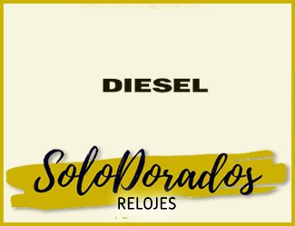 relojes diesel dorados